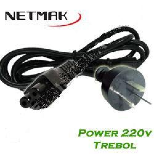CABLE POWER TREBOL 220 V 1.5 MTS  NETMAK - C46