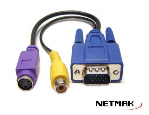 CABLE VGA A TV (S-VIDEO Y RCA) NM-C51 NETMAK