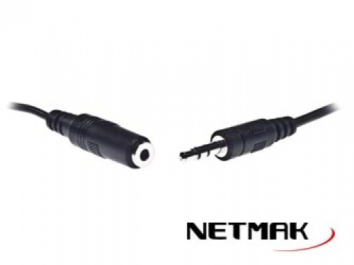 CABLE AUDIO 3.5 M M/H 1.5 MTS   NM -C27  NETMAK