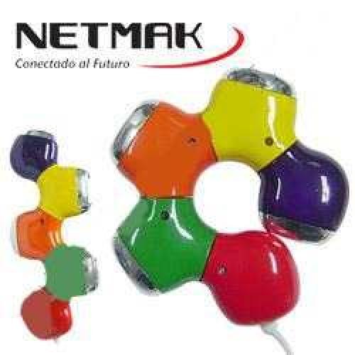 HUB USB 2.0 TIPO FLOR  ROTABLE NM-AC04 NETMAK