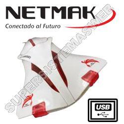 MOUSE AVIONCITO BLANCO  NM-F16W NETMAK