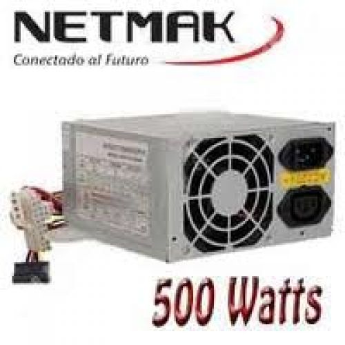 FUENTE ATX 500W SATA C/CABLE POWER  NETMAK  NM-F500W