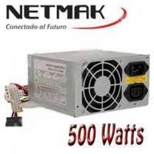 FUENTE ATX 500W SATA C/CABLE POWER  NETMAK  NM-F500W