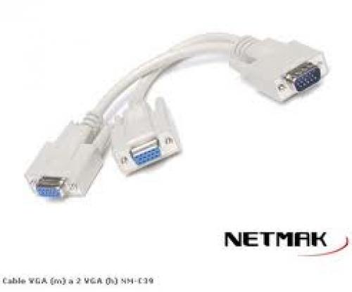 CABLE VGA (M) A 2VGA (H)  NM-C39