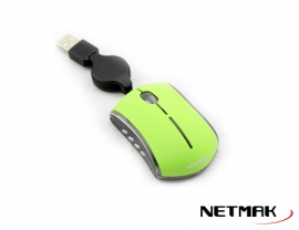 MOUSE OPTICO USB 3D GREEN  NETMAK  NM-M06G