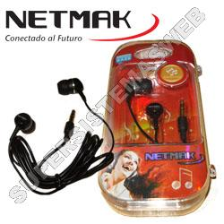 EARPHONE IN-EAR MP3  3.5Mm  BLACK  NETMAK  NM-9800B