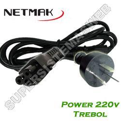 CABLE POWER TREBOL 220V  3M  NETMAK  NMC46 3