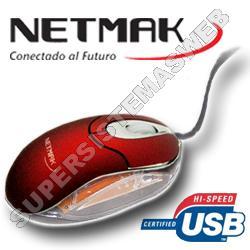 Mouse Luminoso Usb Rojo - NM-M01R