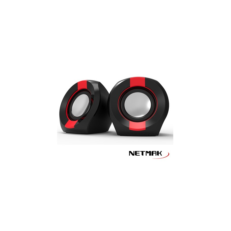 PARLANTES ICON USB 2.0 BLACK/RED  ICON202R