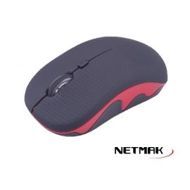 MOUSE INALAMBRICO 2.4 GHZ  1600 DPI  RED  NM-MW34R