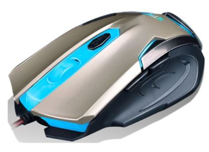 GAMER MOUSE RETROILUMINADO 2400 DPI GOLD NM-ARMOR-G