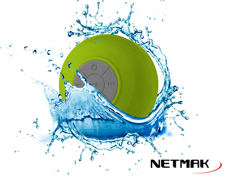 PARLANTE DUCHA BLUETOOTH GREEN NM-SPLASH-G