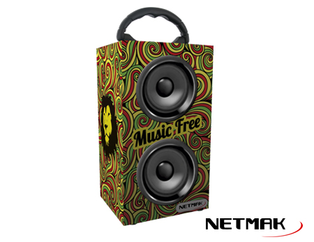 PARLANTE RASTA BLUETOOTH 10W USB/SD/FM NM-RASTA