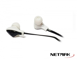 Auricular In-Ear 3.5mm Plano Bk&Wh NM-700