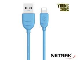 CABLE USB YOUNG SERIES 1M BLUE 2.4A NM-116B