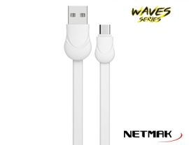 CABLE MICRO USB WAVE SERIES 1M WHITE 2.1A NM-121W