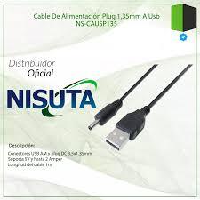 CABLE ALIMENTACION USB AM A PLUG 1.35 DE 1M CAUSP135