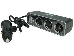 CARGADOR 12V/24V A USB 1 AMP Y DIV 12V A 3P NSC013U
