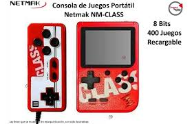 Consola Gamer 8bit con 400 juegos p/ 2 Jugadores CLASS