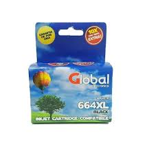 CARTUCHO ALTERNATIVO GLOBAL 664XL BLACK