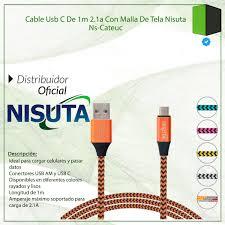 CABLE USB C DE 1M DE 2.1A MALLADO CATEUC