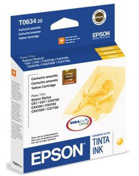 CARTUCHO ORIGINAL EPSON T133420 YELLOW  STYLUS T/22/25/TX125