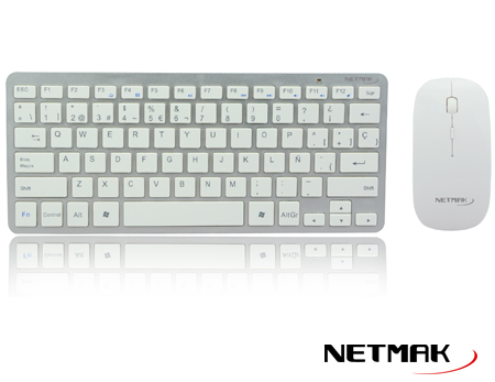 COMBO INALAMBRICO ULTRA SLIM WHITE NM-KB570W