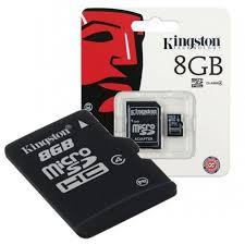 MEMORIA SD KINGSTON 8GB  HC  CLASE 4