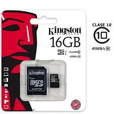 MICRO SD 16 GB KINGSTON CLASE 4