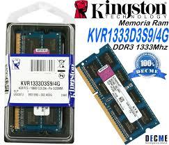 MEMORIA SODIMM DDR3 4GB KINGSON1333MHZ PC3 10600
