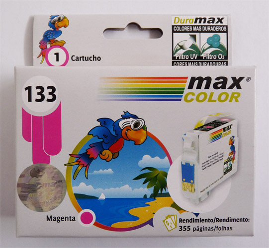 MAX COLOR TINTA EPSON 133 MARGENTA