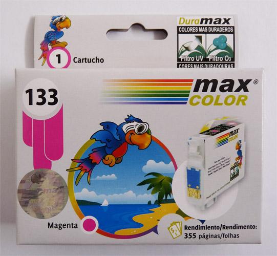 MAX COLOR TINTA EPSON 133 MARGENTA