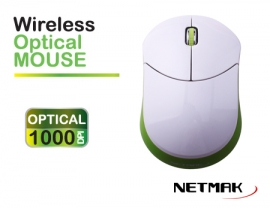 MOUSE WIRELESS 2.4 GHZ GREEN  NETMAK  NM-NW32G