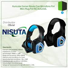 AURICULAR GAMING PS4 CON LEDS AUG350L